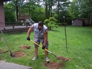 Septic Tank Lid Digging